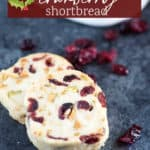 Two slice and bake shortbread cookies