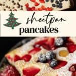 Pancake batter in a sheet pan