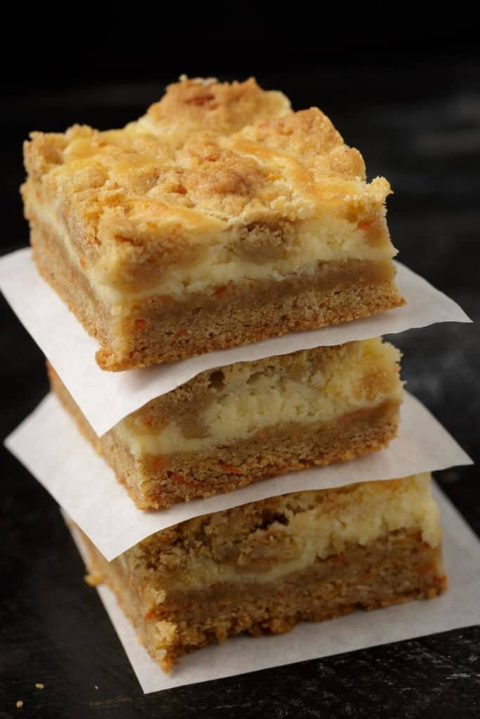 A stack of carrot cake bars