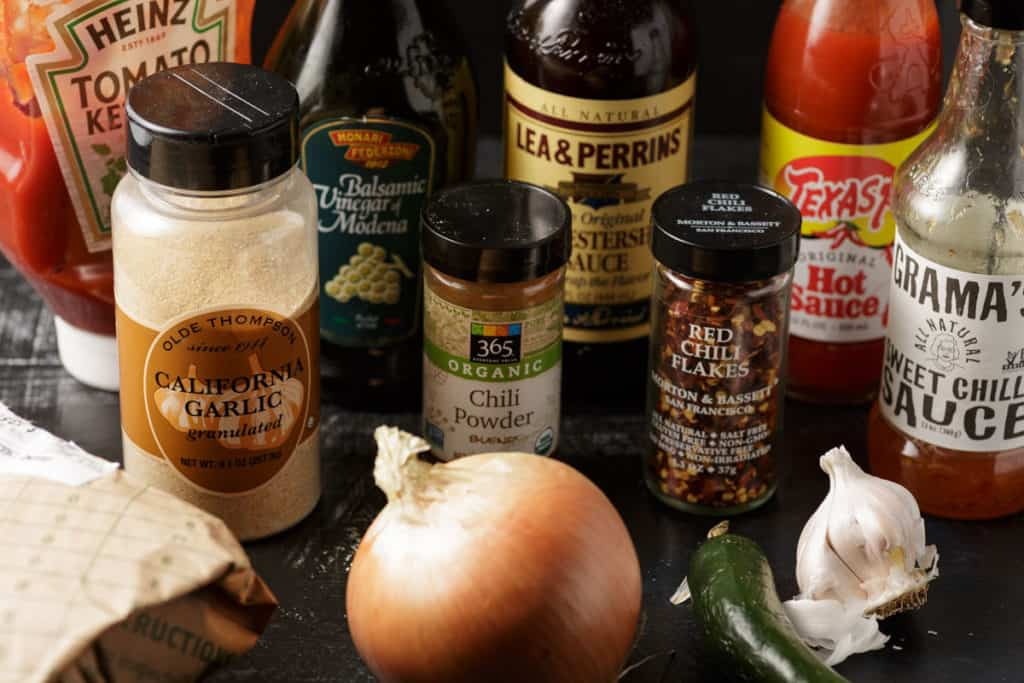 ingredients for sloppy joes with homemade sauce