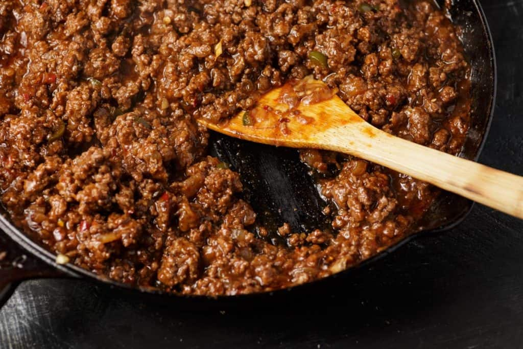 Thickened sloppy joe sauce