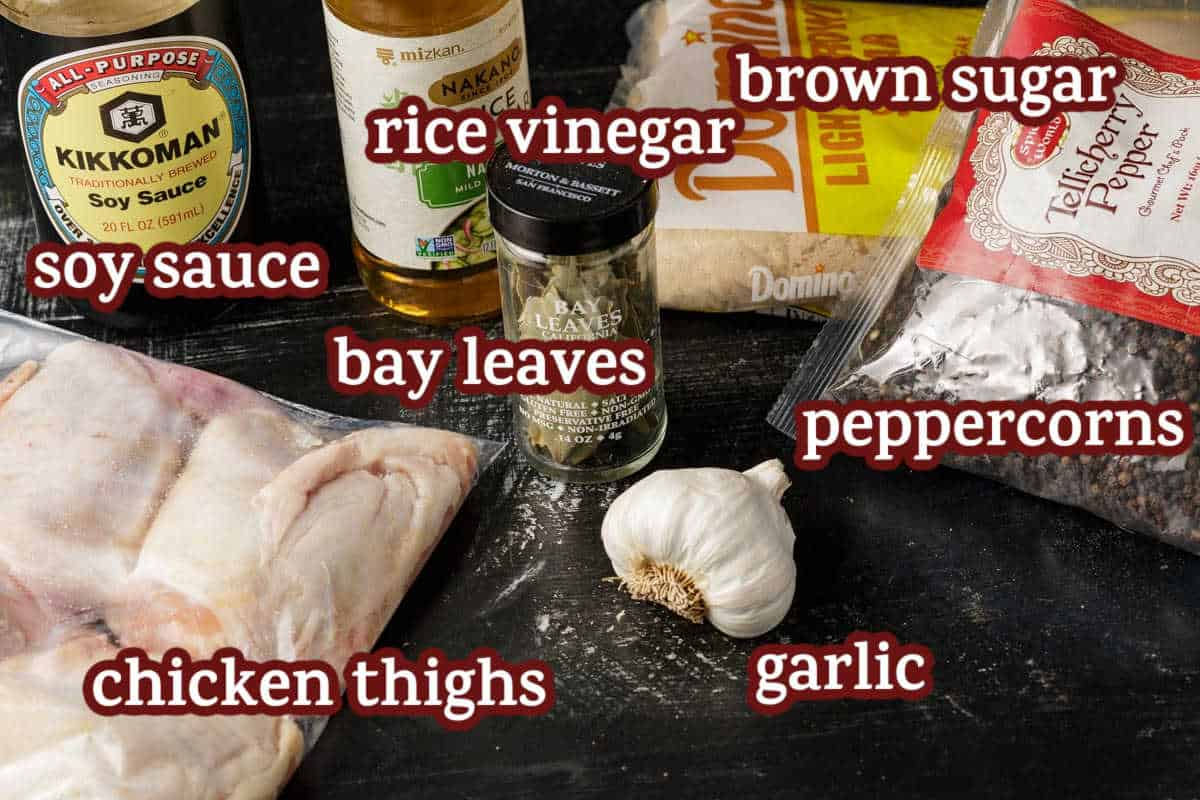 ingredients for chicken adobo