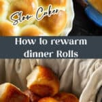 Yeast Rolls warming in a slow cooker.