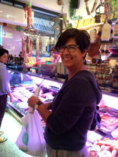 Carmelita at the market