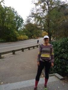Barbara running in central park