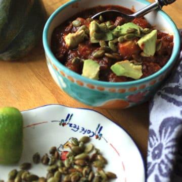 Chili with Acorn Squash