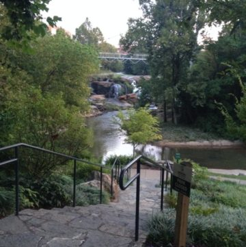 The swamp rabbit trail next to the river