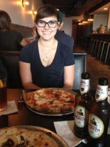 Taylor at Mission Pizza