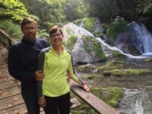 Barbara and Mike on The Cascade Hike