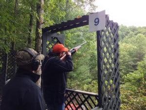Skeet shooting at the Homestead