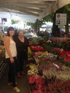 Flower market with Judy