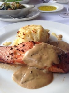 Salmon at Larkin's on the River - Greenville SC