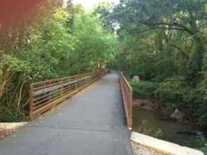 A bridge on the swamp rabbit trail