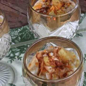 Two bowls of Tropical Rice Pudding