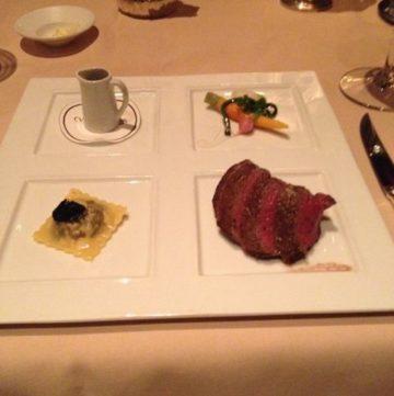 Dinner plate at Victoria & Albert